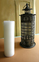 Candle Holder Metal and Glass Lantern $35.00