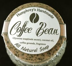 COFFEE BEAN Glycerin Unisex Soap Exfoliating Coffee Grounds Mechanics Natural $5.00