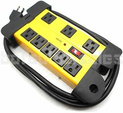 8-Outlet Power Strip Surge Protector w Metal Housing Charging Station Electronic $19.85