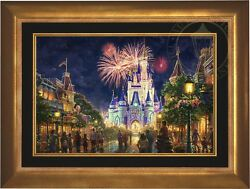 Thomas Kinkade Main Street USA 18 x 27 EE Canvas LE Framed Disney World