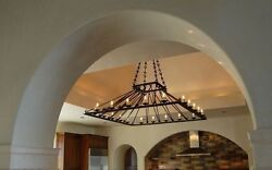 Oversize Large 6' Ft Square Chandelier wrought iron custom spectacular 20 lights
