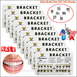 10*Dental Orthodontic Brackets Braces Mini Roth Slot.022 3-4-5 Hooks #2 US STOCK