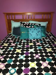 Reversible Bedding Set with Handmade Throw Pillows Rug Curtains Bounce Chair $100.00