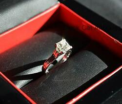 Canadian Glacier Fire Princess Cut Diamond 1.14ct SI-1 18KT Solitaire Ring Sz 6
