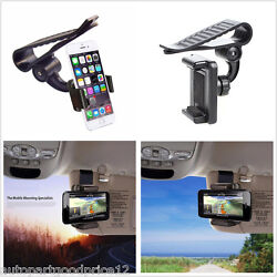 Car Sun Cover Clip Holder Mount Stand for iPhone 66S Plus7 Plus Samsung Galaxy $11.79