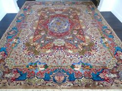 Signed Cr.1930 Antique Persian Kashmar Hand Made Exquisite Rug 9' 9