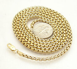 2.5mm Solid Round Box Chain Necklace 14K Yellow Gold Clad 925 Silver 30quot; 36quot; $46.20