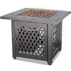 Fire Pit Table Insert Propane Gas Outdoor Fireplace Patio Deck Bowl Heater