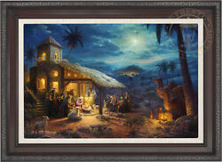 Thomas Kinkade Christmas - The Nativity 18 x 27 LE EE Canvas Framed