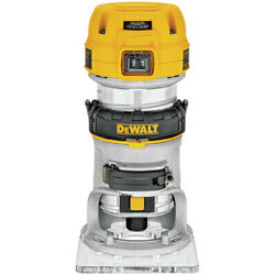 DEWALT DWP611 1-14 HP Variable Speed Premium Compact Router with LED DWP611 New