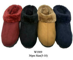 Comfy Winter Slippers Soft Furry Warm Girl Lady Women House Indoor Shoes W1909 $14.99