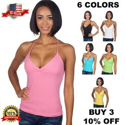 Hering Brazilian Cotton Sexy Cleavage Low Cut Racer Back Tank Top Style 0128 $11.99