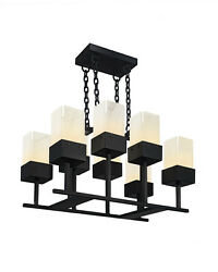 Katies 8 Square light Handmade Square Wrought Iron Chandelier