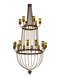 Serenity 2 Tier Chandelier Hand Crafted Wrought Iron Chandelier 18 Lights