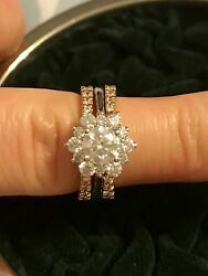Rare Hearts on Fire 'Delight Lady Di' Engagement Ring with Custom Wedding Bands