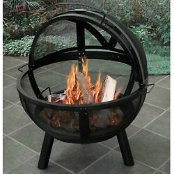 Landmann Fire Pit For Sale Patio Outdoor Wood Burning Ball O Fire Steel Cover