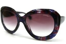 AUTHENTIC CHANEL Butterfly Shaped CC Mark Sunglasses Multi-color 5323-A