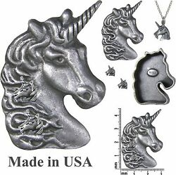 Unicorn Brooch Pin Necklace Earrings & Jewelry Box Set * Pewter * by Torino
