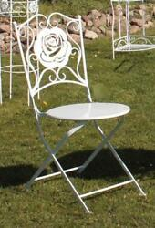 G2378: Romance Garden Chair Rose Folding Chair Balcony White