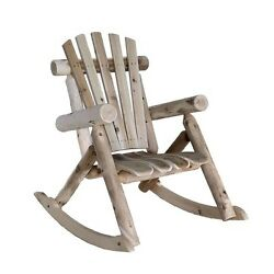 LMCRC117 Weather Resistant Cedar Log Rocking Chair - Adirondack Style