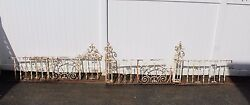 Antique Ornate Wrought Iron Fence - American circa 1900s