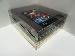 10 NES Cartridge Protectors New Crystal Clear Cases Sleeves Nintendo Carts Box $8.50