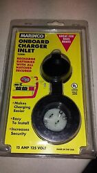 MARINCO ONBOARD CHARGER INLET NEW IN PACKAGE