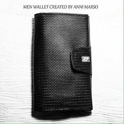 Men wallet made by genuine Italian Leather handcrafted by Anni Marso