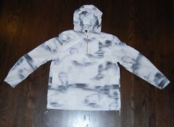 Men#x27;s Hamp;M Divided windbreaker gray amp; white $50 price tag NWT light and hooded $14.95