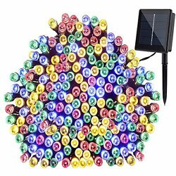Solar String Lights 200 Led Outdoor Patio Party Decor Multi-Color Waterproof