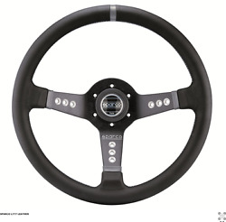 SPARCO L777 Street Steering wheel 350mm Leather or Suede Contrast stitching
