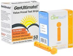 Diabetes Care Genultimate Blood Glucose Test Strips One Touch Mete 50 Strips