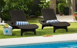 Chaise Longue Pool Furniture Lounge Chairs Outdoor Adjustable Wicker Lounger