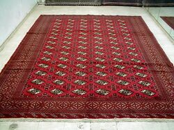 10X12 MINT PERFECT NEVER USED MASTERPIECE HAND KNOTTED WOOL TURKAMON PERSIAN RUG
