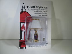 MINIATURE LAMP Town Square light 12 Volt dollhouse diorama table desk shade $11.00