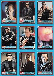 TERMINATOR 2 JUDGEMENT DAY MOVIE 1991 TOPPS COMPLETE BASE STICKER CARD SET OF 44