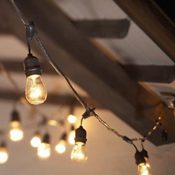 15 Hanging Edison BULBS 48' Outdoor Bar Deck Patio String Lights Vintage Decor