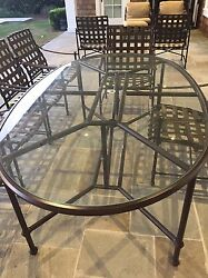 Brown Jordan Outdoor Table+Chairs NEWLY REFINSIHED!