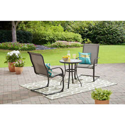 Bistro Table and Chairs Patio Outdoor Porch Dining Deck 3 Pc Set Furniture