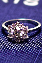 Hearts on Fire 'Delight Lady Di' Engagement Ring 18k White Gold