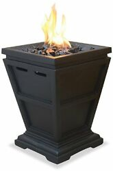 Outdoor Fire Pit Table Top Fireplace LP Gas Patio Deck Backyard Steel 15 Inch