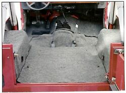 Steel Horse IndoorOutdoor Carpet Full Kit Charcoal 76-95 Jeep CJ5 CJ7 Wrangler