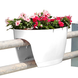 24 in. Railing and Deck Planter windowbox Greenbo XL (Pack of 6) from Greenbo W