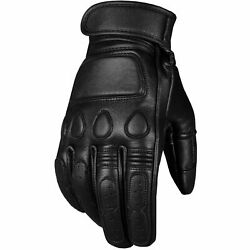 New Vintage Men#x27;s Goatskin Gloves Leather Cruiser Protective Motorcycle Riding $21.41