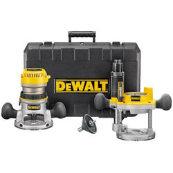 DEWALT 1-34 HP 120V Fixed Base and Plunge Router Combo Kit DW616PK New