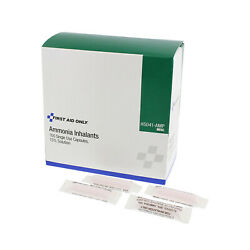 First Aid Only H5041-AMP Ammonia Inhalant Ampoules 100 Per Box