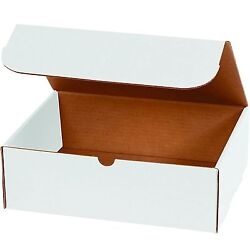 WHITE CORRUGATED MAILERS MANY SIZES 50 100 200 Shipping Packing Boxes Mailers $28.95