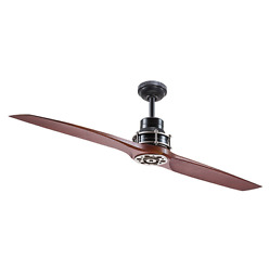 2 Blade 56quot; Large Airplane CEILING FAN REMOTE Unique Pewter Contemporary Cabin $249.99