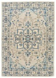 9x12 Rectangle Area Rug Classic 100% Wool Hand-Tufted Chateau Gray