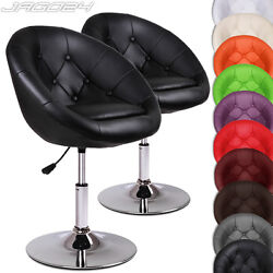 Bar Stool Chesterfield Swivel Chair Club Cocktail Vintage Retro Lounge Seat Set